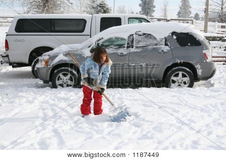 Shoveling Car Out