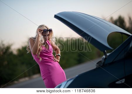 The Woman's Car Broke Down