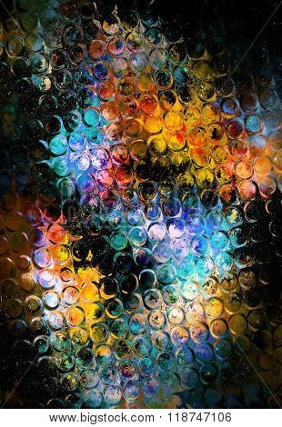 Nebula, Cosmic space and stars, cosmic abstract background and glass effect. Elements of this image