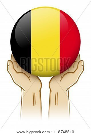 Pray For Belgium Illustration