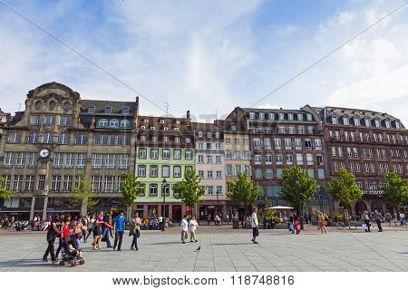 Place Kleber, The Central Square Of Strasbourg, France