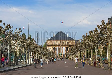 Place Broglie, One Of The Main Squares Of The City Of Strasbourg, France