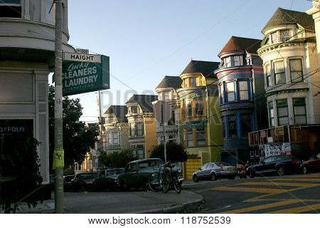 SAN FRANCISCO, CALIFORNIA -- JUNE 8, 2008 --Haight-Ashbury is the famously hippie neighborhood of San Francisco, California.