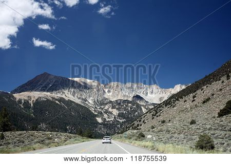 YOSEMITE NATIONAL PARK, CALIFORNIA -- July 10, 2014 -- The Sierra Nevada Mountains provide a stark barrier between the deserts of Nevada and California's Yosemite National Park.