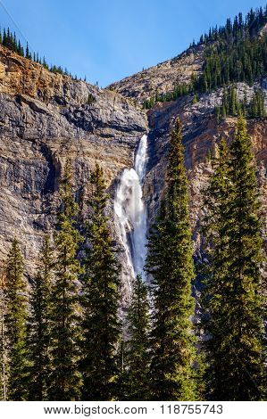 Takakkaw Falls in Yoho National Park in the Canadian Rockies