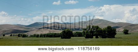 The foothills of the Rocky Mountains in southwestern Colorado make for good farming and ranch land.
