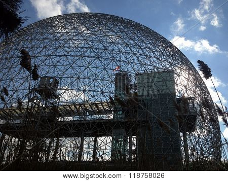 MONTREAL, QUEBEC -- MAY 29, 2015 -- The Biosphere, a structure designed by R. Buckminster Fuller in 1967, boasts itself the only museum in North America dedicated to the environment, meteorology, climate, water and air quality.