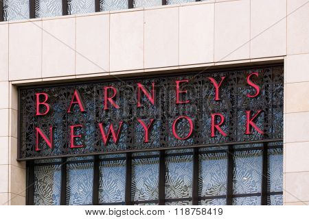 Barneys New York Exterior Sign And Logo