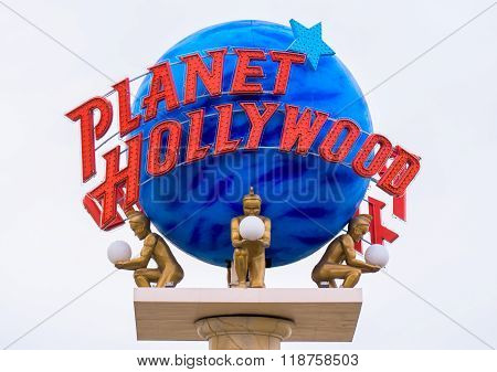Planet Hollywood Sign And Logo