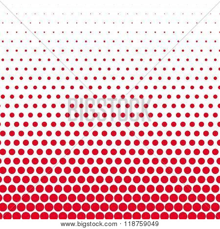 Cadmium red polka dot on white background