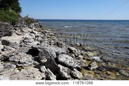 Cave Point State Park, Door County, Wisconsin, USA