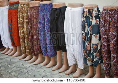 Mannequins with pants