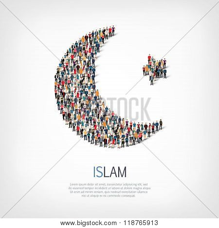 group  people  shape  islam moon