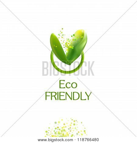 Green leaves Eco friendly logo
