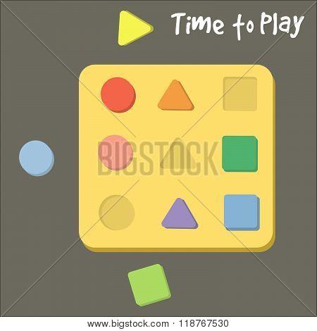 Shape Sorter Toy For Babies Vector Illustration