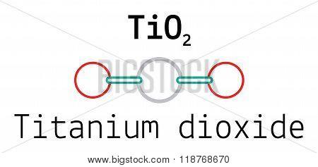 TiO2 titanium dioxide molecule