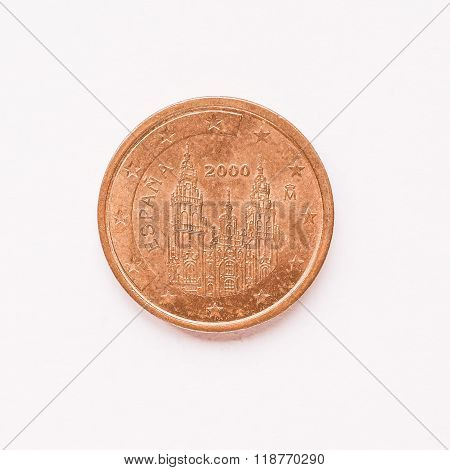 Spanish 2 Cent Coin Vintage