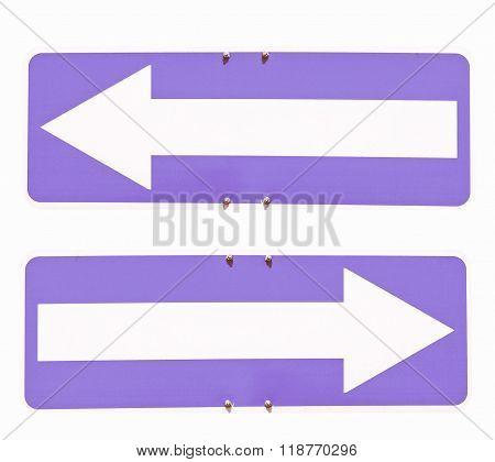 Direction Arrow Sign Vintage