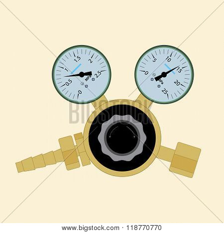 Pressure regulator for welding