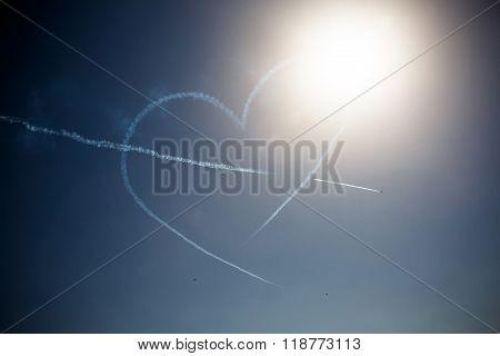 Avia show in blue skye