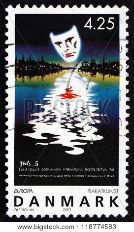 Postage Stamp Denmark 2003 Theater Festival, Poster Art