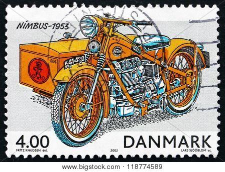 Postage Stamp Denmark 2002 Nimbus Motorcycle, 1953