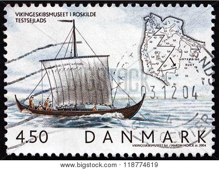 Postage Stamp Denmark 2004 Skuldelev 1 On Roskilde Fjord