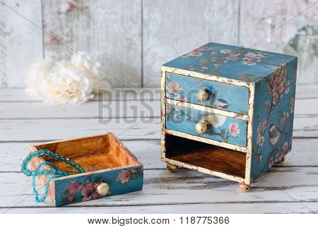 Decoupage Jewellery Box