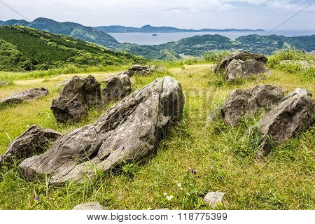 Hilltop with stones
