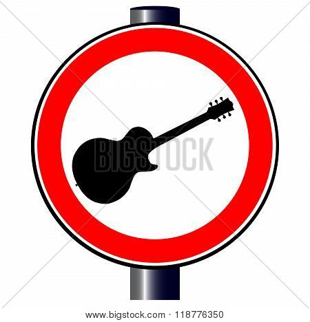 Guitar Traffic Sign