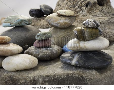 Rocks Placed Into Piles