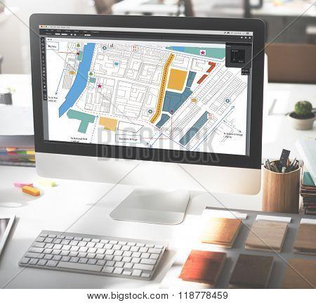 City Urban Blueprint Plan Infrastructures Concept