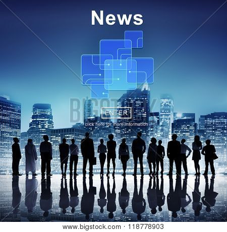 News Broadcast Information Report Update Communication Concept