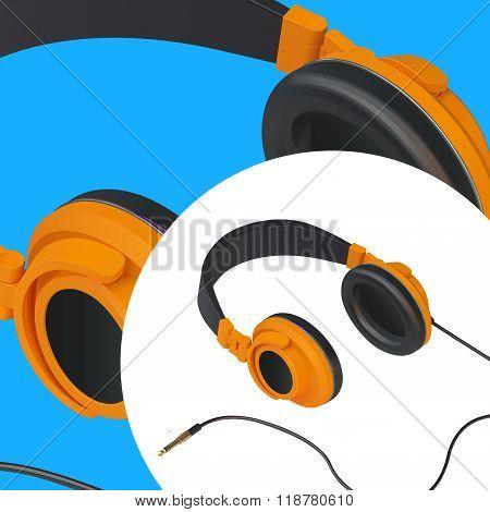 headset audio isometric vector illustration