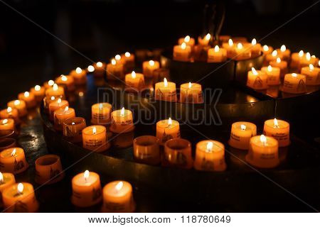 Candles For Prayers In Church