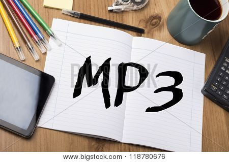Mp3 - Note Pad With Text