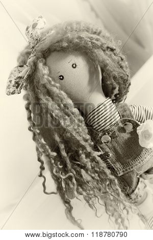 Handmade Doll With Natural Hair