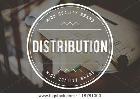 Distribution Distribute Distributed Distributors Concept