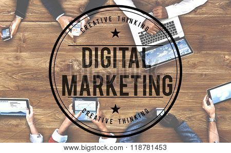 Digital Marketing Commercial Advertisement Social Concept