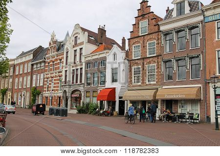 People Walking In The City Centre Of Haarlem, The Netherlands