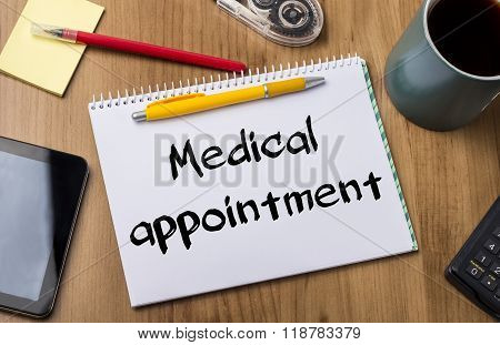 Medical Appointment - Note Pad With Text