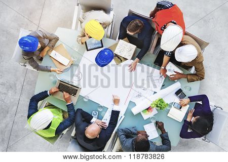 Business People Designers Architects Working Office Concept