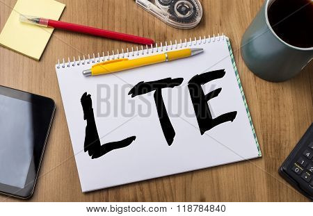 Lte - Note Pad With Text