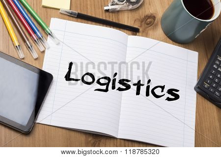 Logistics - Note Pad With Text