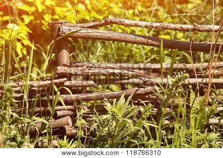 wicker rustic fence