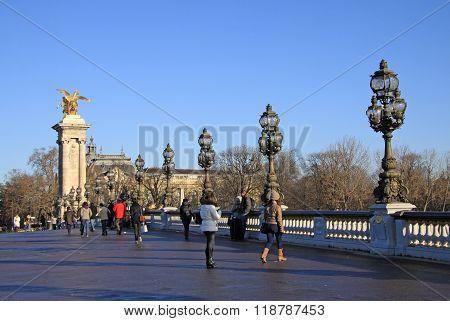 Paris, France -18 December 2011: Pont Alexandre Lll In Paris, France