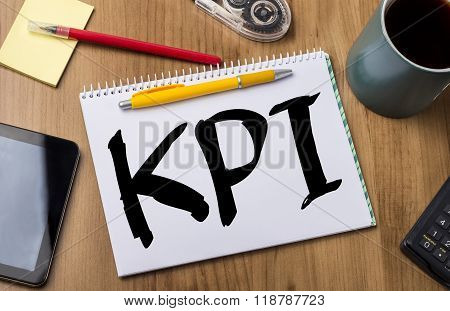 Kpi - Note Pad With Text
