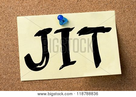 Jit - Adhesive Label Pinned On Bulletin Board