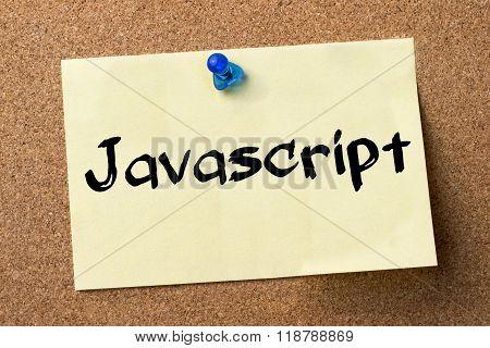 Javascript - Adhesive Label Pinned On Bulletin Board