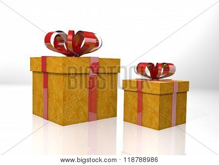 gift box made with red tie